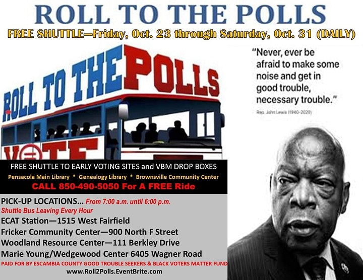 Roll To The Polls - Escambia County Good Trouble Seekers' Voting Project image