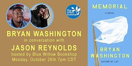 Bryan Washington | Memorial: A Novel Launch event tickets