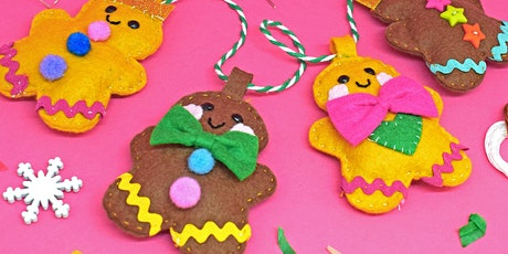 MAKE A GINGERBREAD MAN CHRISTMAS GARLAND - FREE tickets