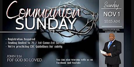 CSC Communion Sunday tickets