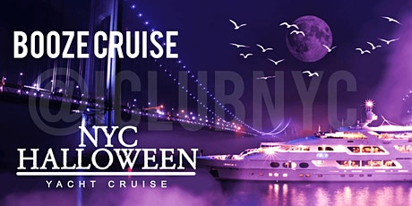 HALLOWEEN BOOZE CRUISE, YACHT CRUISE  NYC VIEWS  OF STATUE OF LIBERTY, tickets