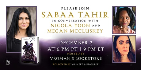 Sabaa Tahir in conversation with Nicola Yoon and Megan McClusky tickets