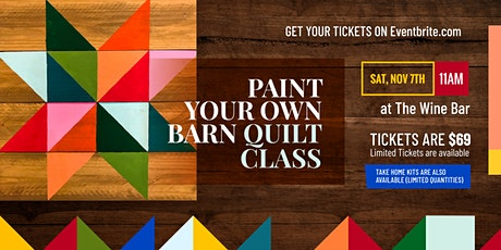 Paint Your Own Barn Quilt Class tickets
