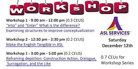 Wink's Workshop Series tickets