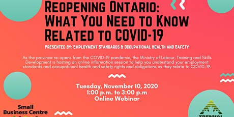 Reopening Ontario:  What You Need to Know Related to COVID-19 tickets