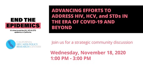 Advancing Efforts to Address HIV, HCV, and STDs in the Era of COVID-19 tickets