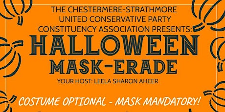 Chestermere-Strathmore UCP Constituency Association Halloween Mask-erade. tickets