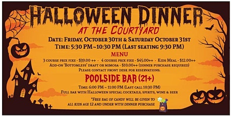 Staybridge Suites and Holiday Inn Long Beach Airport  Halloween Dinner tickets