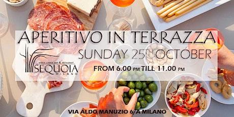 Aperitivo in Terrazza nel centro di Milano 25 Ottobre biglietti