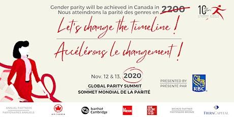 GLOBAL PARITY SUMMIT - SOMMET MONDIAL DE LA PARITÉ tickets