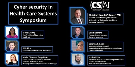 (CS)2AI ONLINE Symposium: Cyber Security in Health Care tickets
