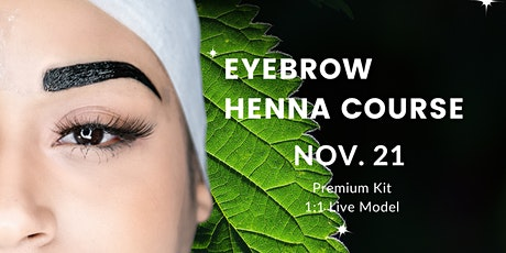 Eyebrow Henna Certification tickets