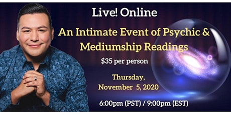 An Intimate Evening of Psychic & Mediumship Readings with A.J. Barrera tickets