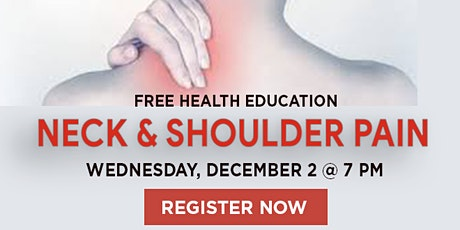 WEBINAR:  Neck & Shoulder Pain tickets