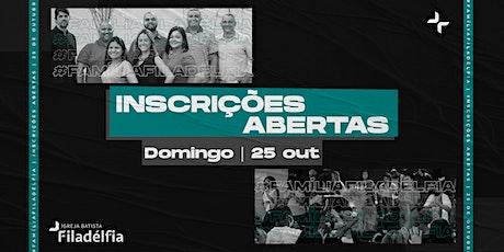 CULTO DE CELEBRAÇÃO BATISTA FILADÉLFIA | 25/10/20 | 18H ingressos