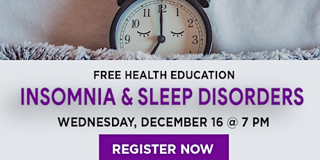 WEBINAR:  Insomnia & Sleep Disorders tickets