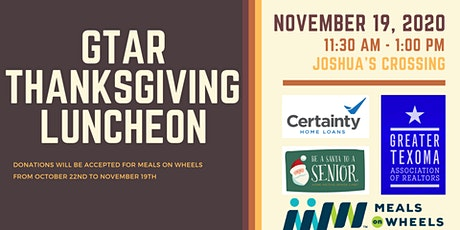 GTAR November Luncheon tickets