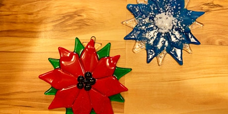 Sold Out Snowflake Poinsettia Ornament Fused Glass Class tickets