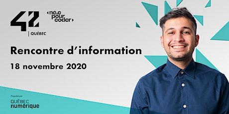 42 Québec - Rencontre d'information tickets