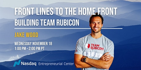 Front Lines to the Home Front: Building Team Rubicon with Jake Wood