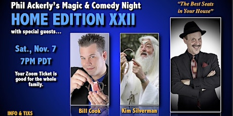 Phil Ackerly's Virtual Magic Show XXII with Bill Cook and Kim Silverman tickets