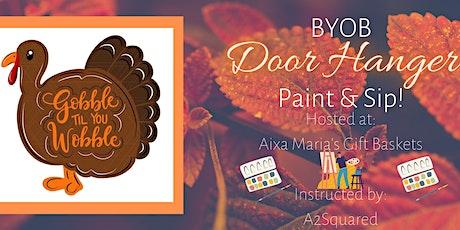BYOB Thanksgiving Door Hanger Paint & Sip! tickets
