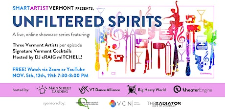 Unfiltered Spirits: Join the show on Zoom tickets