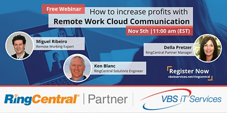 Free Webinar - How to Increase Profits with Remote Work Cloud Communication tickets