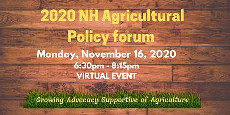 2020 NH Agriculture Policy Forum tickets