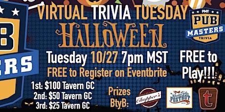 Halloween Theme Virtual Trivia Tuesday - FREE to Play! w/ Pub Masters - THG tickets
