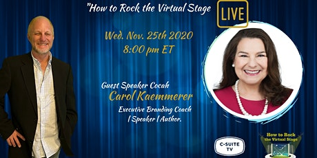 How To Rock The Virtual Stage Show with Carol Kaemmerer tickets