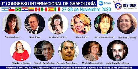 I CONGRESO INTERNACIONAL  DE GRAFOLOGÍA 2020 entradas