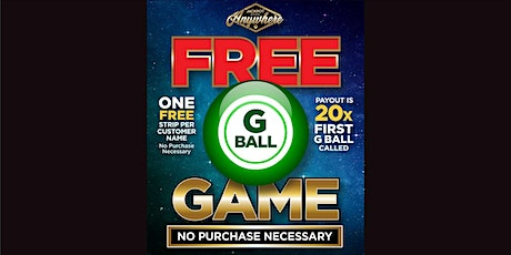 """G"" Ball Game - FREE GAME - November 9th, 2020 tickets"