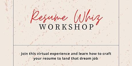 Resume Whiz Workshop with L. Xavier Cano tickets