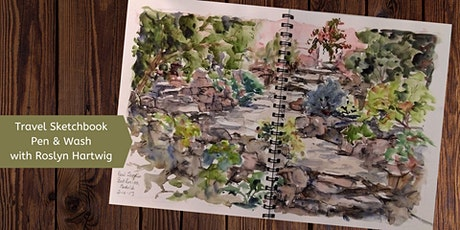 Travel Sketchbook Pen & Wash with Roslyn Hartwig (Wed eve. 8 Week Course) tickets