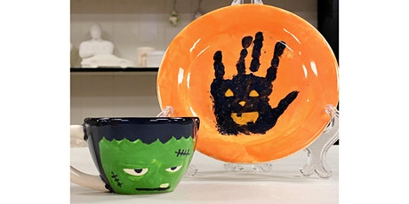 Mommy & Me Halloween Dessert  Plate painting tickets