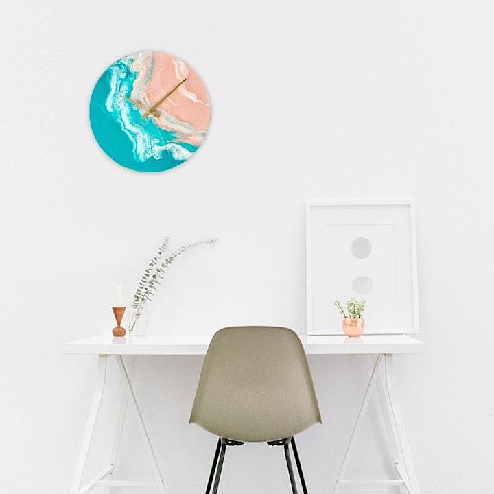 Fluid Art Clock Workshop with Room To Imagine image