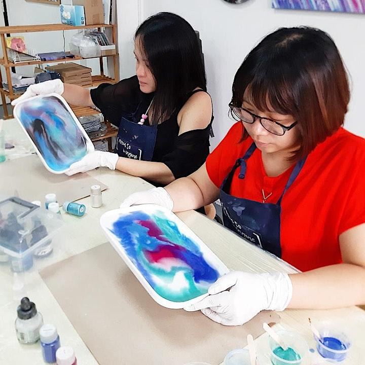 Resin Art Platter Workshop with Room To Imagine image