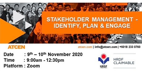 CMCO Online Training - Stakeholder Management - Identify  Plan & Engage tickets