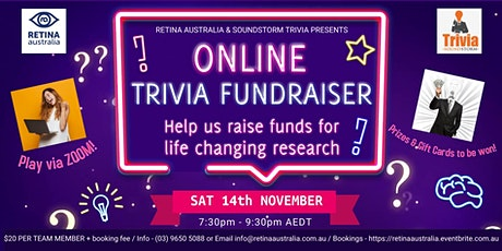 Retina Australia Online Trivia Fundraiser 2020 tickets
