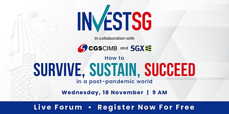 Invest Singapore 2020: Survive, Sustain, Succeed tickets