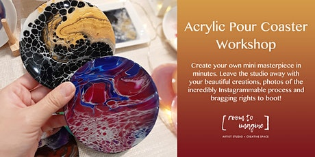 Acrylic Pour Coaster Workshop tickets