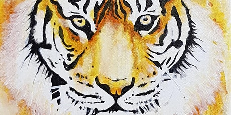 Acrylic Painting - Paint your very own TIGER (paint and sip). tickets