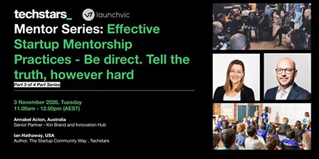 Mentor Series: Effective Startup Mentorship Practices (Part 3) tickets