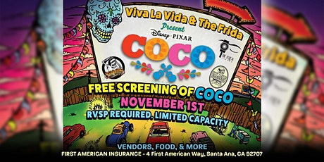 TICKETS ADDED! — COCO: Free Dia de Muertos Celebration tickets