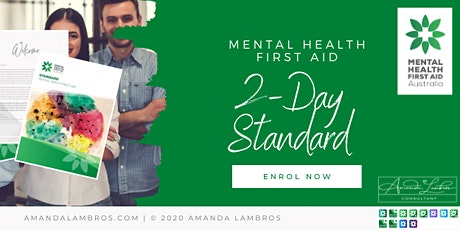 Standard Mental Health First Aid - 2 Day Training tickets