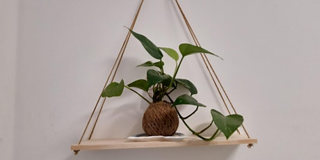 Kokedama & Rustic mobile Shelf  - twilight vino workshop tickets
