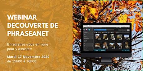 Seminaire en ligne Phraseanet, Mardi 17 Novembre 2020 billets