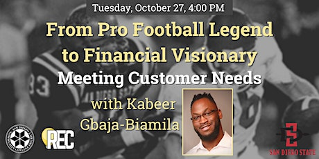 From Pro Football Legend to Financial Visionary - with Kabeer Gbaja-Biamila tickets