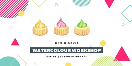 Gem Biscuit Watercolour Painting for Beginners tickets